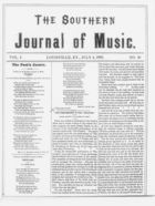 The Southern Journal of Music,  Vol. 1, no. 10, July 4, 1868