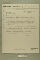 Telegram from Ivan B. White in Tel Aviv to Secretary of State, Nov. 26, 1955