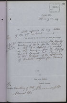 Correspondence re: Authorisation to Relieve and Repatriate Destitute Natives of Leeward Islands, January 25 - February 21, 1889