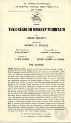 Playbill for Dream On Monkey Mountain by Derek Walcott