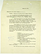 Memo from Brigadier General E. L. Munson to Captain Zillman re: Extension of Morale Work to Border Stations, March 11, 1919