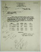 Letter from Captain of the Port to Captain L. R. Sargent re: Employee Promotions, February 3, 1920