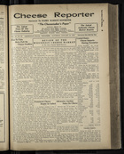 Cheese Reporter, Vol. 54, no. 20, Saturday, January 25, 1930