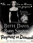 Payment on Demand (1951): Shooting script