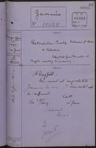 Correspondence Cover Sheet re: Extradition Treaty Between Great Britain and Colombia, June 12, 1885