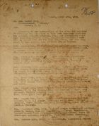 Letter from Chief of Police, Isthmian Canal Zone, to John Foster Carr, Correspondent,