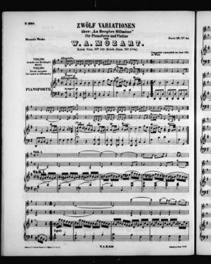 Zwölf Variationen, K. 359