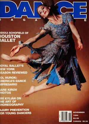 Dance Magazine, Vol. 68, no. 11, November, 1994