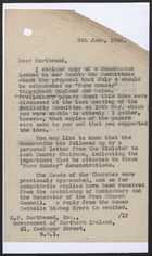 Letter from A.W. Knee to E.P. Northwood re: Farm Sunday - June 9, 1943