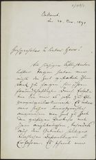 Letter from Patrick Delany to William Henry Archer, November 28, 1891