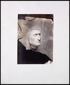 right 3/4 profile of Dante in plaster