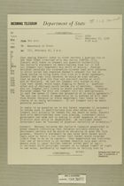 Telegram from Edward B. Lawson in Tel Aviv to Secretary of State, February 16, 1956