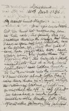 Letter from Jessie Love to Maggie Jack, November 11, 1896