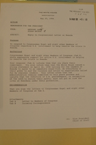 Congressional Letter to the President on Rwanda, April 20, 1994