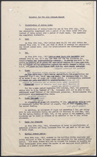 Memo from A. Alderman to Miss O.G. Tanner re: Material for the July Cabinet Report, 1947