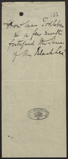 Note on Fortification of the Black Sea, Undated