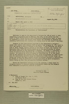 Recommendation for Punishment of ''Infiltrators'', August 1955