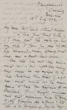 Letter from Ellie Love MacPherson to Robert and Maggie Jack, July 15, 1893
