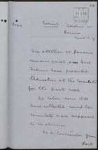 Copy of Letter Extract from the