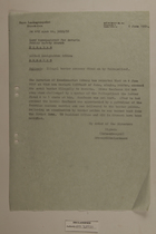 Memo from Schaumberger re: Illegal Border Crosser Fired on by Volkspolizei, June 6, 1951