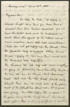Letter from Rex Anderson to Edith Thompson, April 28, 1885
