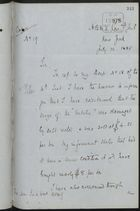 Letter from William Lane Booker re: Damage to Cargo Aboard the