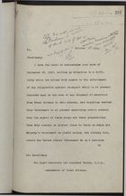 Memo from Acting Secretary to Sir Auckland Geddes re: Export of Narcotics from Great Britain, October 27, 1920