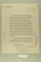 Letter from the Secretary of War to the Secretary of State, Oct. 30,1919