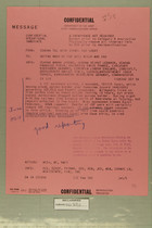 Confidential Message from USARMA Tel Aviv Isreal, SGD Query, to DEPTAR Wash DC for ACSI, AFOIN and CNO, September 11, 1956