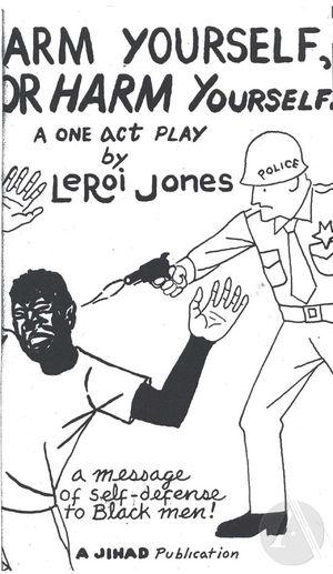 Playbill for <i>Arm Yourself, Or Harm Yourself</i>, by LeRoi Jones (Amiri Baraka), 1960s