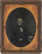 Daguerreotype of Richard Eales Borrow in embossed frame.