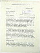 Letter from John M. Clark to John T. Lassiter re: Accounts for December, 1942, February 4, 1943