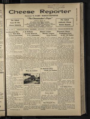 Cheese Reporter, Vol. 55, no. 9, November 8, 1930