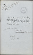 Letter from Sir F. Bertie to M. Cruppi, May 26, 1911