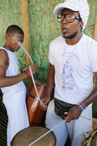 Drummers at Iemanja Festival in Rio Vermelho (photo)