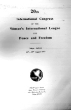 20th International Congress of the Women's International League for Peace and Freedom: Tokyo, Japan, 11th-15th August 1977