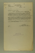 Memo from D. W. Ketcham re: Indian Scouts for Service on Mexican Border, February 19, 1918