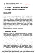 The Global Challenge of Soft Skills Training in Business Education