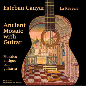 Ancient Mosaic with Guitar