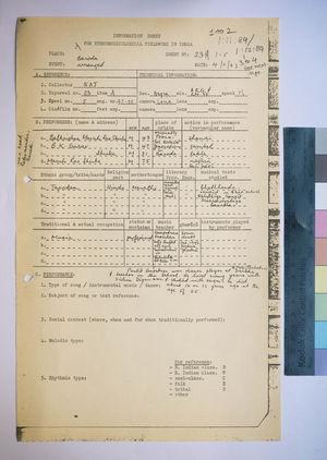 1-12-84 Information Sheets