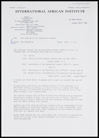 Letter from Secretary, IAI, to All members of the Executive Council, 10 May 1974