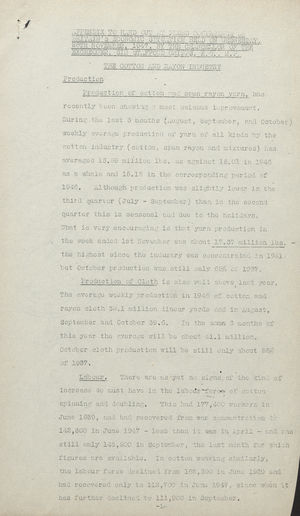 Appendix To Hand Out at the Press Conference on Britain's Economic Situation, November 26, 1947