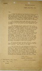 Memo from A. B. Hutcheon to A. Percy Bennett re: Inflammatory Remarks by Peter McDonald Milliard, and Possible Deportation from the Panama Canal Zone, July 29, 1919