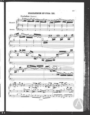 Praeludium et Fuga XII, BWV 542, G Minor