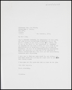 Letter from CDF to Prof. Jaap Van Velsen, University of Zambia, 5 Nov. 1970