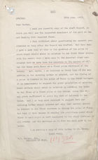 Copy of Draft Report to W.P. Burton on Imported Flour, June 29, 1917