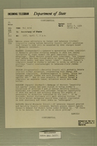 Telegram from Francis H. Russell to Secretary of State, April 7, 1954