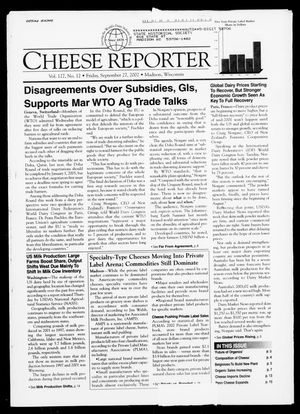 Cheese Reporter, Vol. 127, No. 12, Friday, September 27, 2002