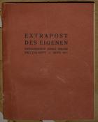 Extrapost des Eigenen Herausgeber Adolf Brand Drittes Heft:  September 1911