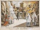 Austria, Vienna, Wolfgang Amadeus Mozart (1756-1791), Die Zauberflote (The Magic Flute), 1791. Set design by Joseph and Peter Schaffer, act II, Tamino, 1793